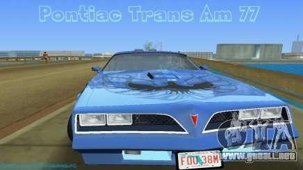Pontiac Trans Am 77 para GTA Vice City