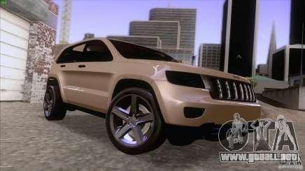 Jeep Grand Cherokee 2012 para GTA San Andreas