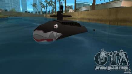 Vice City Submarine with face para GTA Vice City