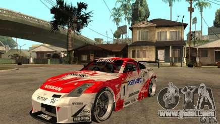 Nissan 350Z Xanavi para GTA San Andreas