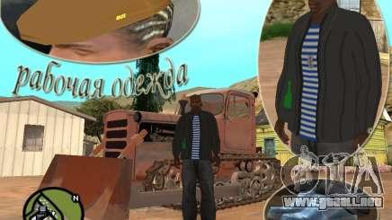 Ropa de trabajo Pak para GTA San Andreas