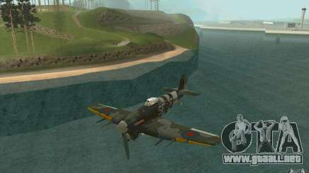 Hawker Typhoon para GTA San Andreas