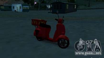 McDonalds Pizzaboy para GTA San Andreas