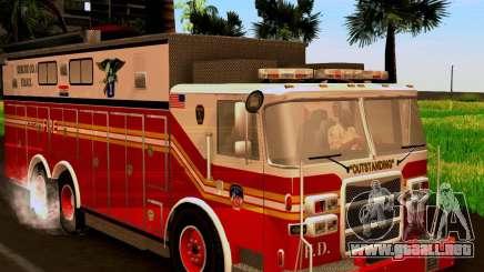 Pumper Firetruck Pierce F.D.N.Y para GTA San Andreas