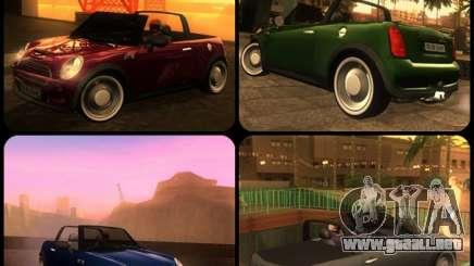 Mini Cooper S Cabrio para GTA San Andreas