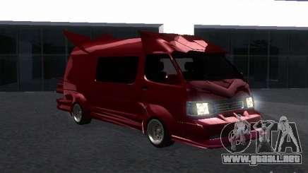 Toyota Hiace Vanning para GTA San Andreas