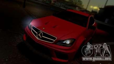 Mercedes Benz C63 AMG C204 Black Series V1.0 para GTA San Andreas