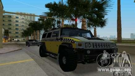 Hummer H2 SUV Taxi para GTA Vice City