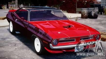 Plymouth Cuda AAR 340 1970 para GTA 4