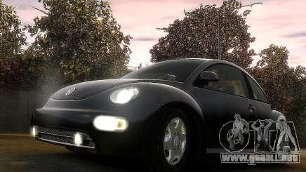 Volkswagen Beetle чёрный para GTA 4