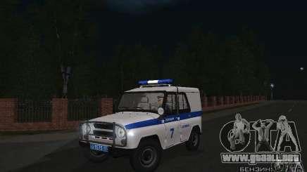 Policía UAZ-31512 para GTA San Andreas