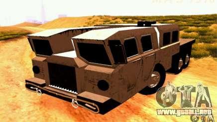 Versión estrecha Civil MAZ-7310 para GTA San Andreas