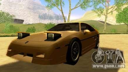 Pontiac Fiero V8 para GTA San Andreas