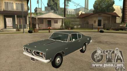 Plymouth Barracuda Formula S 383 1968 para GTA San Andreas