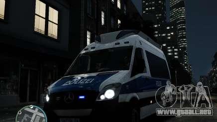 Mercedes Sprinter German Police para GTA 4