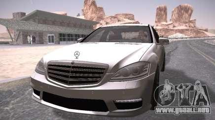 Mercedes Benz S65 AMG 2012 para GTA San Andreas