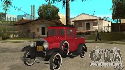 Ford Model A Pickup 1930 para GTA San Andreas