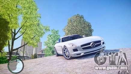 Mercedes-Benz SLS63 AMG белый para GTA 4