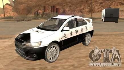 Mitsubishi Lancer EVO X Japan Police para GTA San Andreas