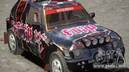 Mitsubishi Pajero Proto Dakar vinilo 3 para GTA 4