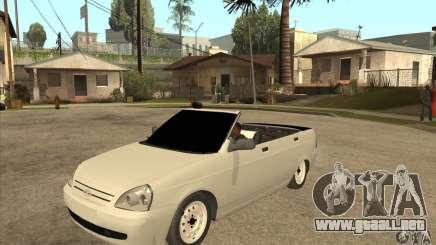 VAZ LADA Priora convertible para GTA San Andreas