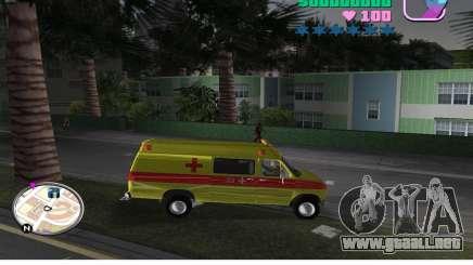 Ford Econoline E350 Ambulance para GTA Vice City