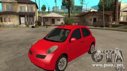 Nissan Micra para GTA San Andreas