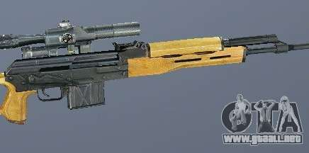 Rifle de francotirador Dragunov (SVD) para GTA San Andreas