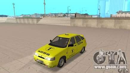 VAZ 21124 TAXI para GTA San Andreas