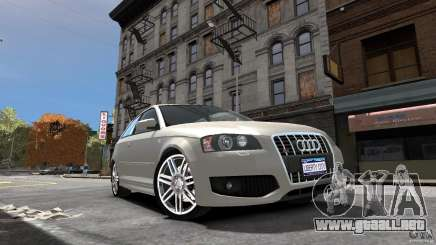 Audi S3 2006 v1.1 no es tonirovanaâ para GTA 4