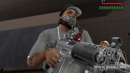 Mira de rifle láser para GTA San Andreas