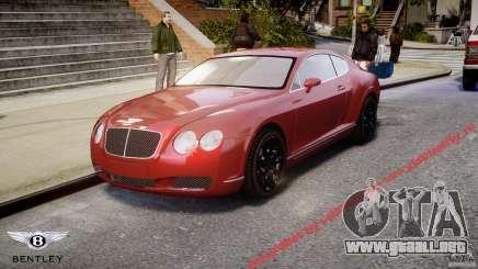 Bentley Continental GT 2004 para GTA 4
