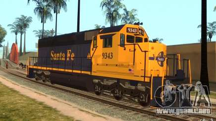 Locomotora SD 40 Santa Fe azul/amarillo para GTA San Andreas