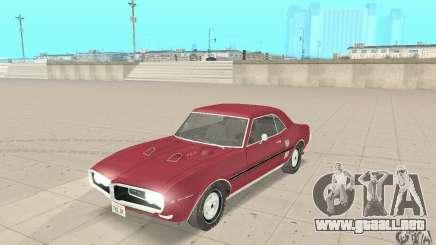 Pontiac Firebird 1968 para GTA San Andreas