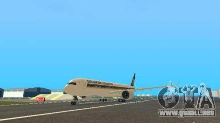 Airbus A350-900 Singapore Airlines para GTA San Andreas