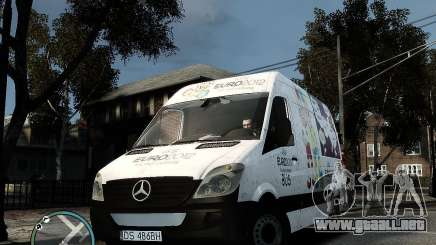 Euro 2012 Bus Mercedes Sprinter para GTA 4