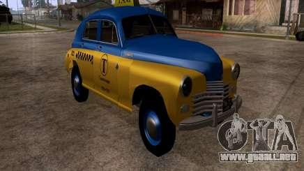 GAZ M20 Pobeda Taxi para GTA San Andreas