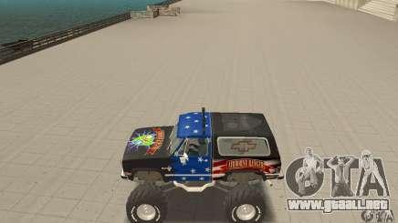 Chevrolet Blazer K5 Monster Skin 3 para GTA San Andreas