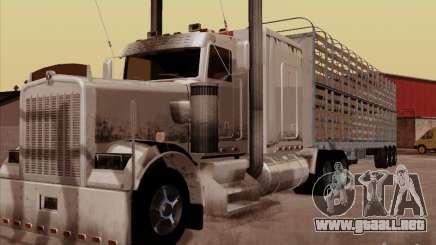 Kenworth W 900 RoadTrain para GTA San Andreas
