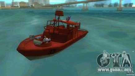 Río bote patrulla Mark 2 (Player_At_Guns) para GTA Vice City