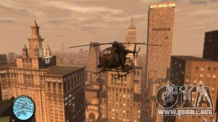 AH-6 Little Bird AcuDigital Camo para GTA 4