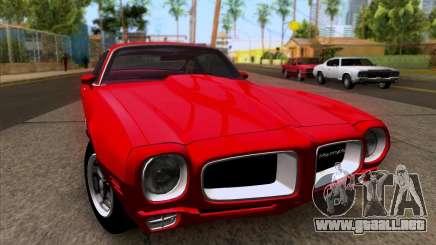Pontiac Firebird 1970 para GTA San Andreas