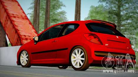 Peugeot 207 para GTA San Andreas left