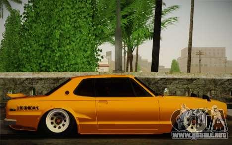 Nissan Skyline 2000GT-R Hoon para la visión correcta GTA San Andreas
