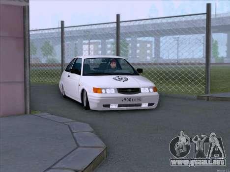 LADA 2112 bajo autorización para GTA San Andreas vista hacia atrás