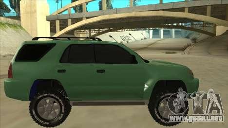 Toyota 4Runner 2009 v2 para GTA San Andreas vista posterior izquierda