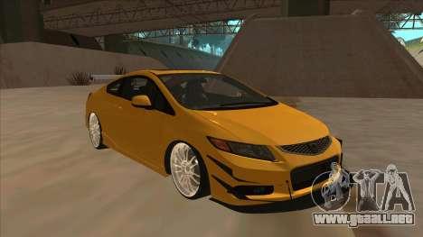 Honda Civic SI 2012 para GTA San Andreas left