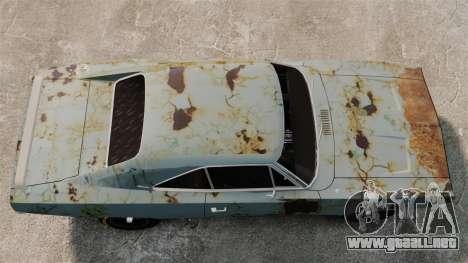 Dodge cargador RT 1969 oxidado v1.1 para GTA 4 visión correcta