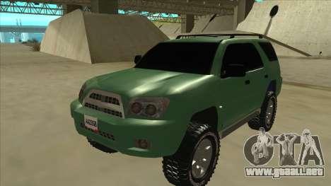 Toyota 4Runner 2009 v2 para GTA San Andreas