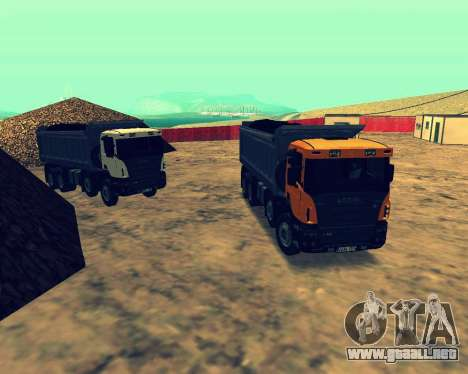 Scania P420 8X4 Dump Truck para visión interna GTA San Andreas